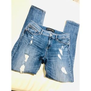 Express Destroyed Skinny Jeans Size 8R